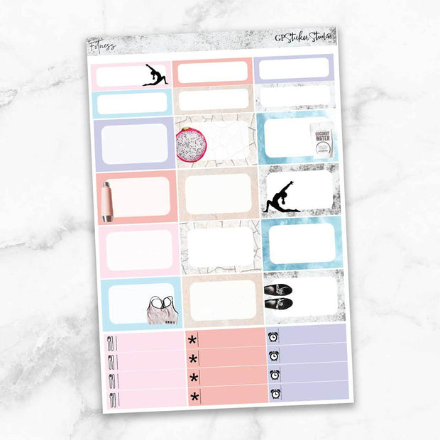 FITNESS Half Boxes Planner Stickers-The GP Studio