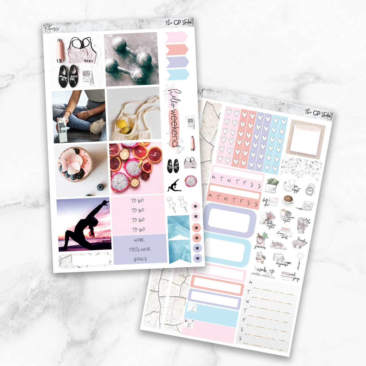 FITNESS Mini Size Planner Sticker Kit-The GP Studio