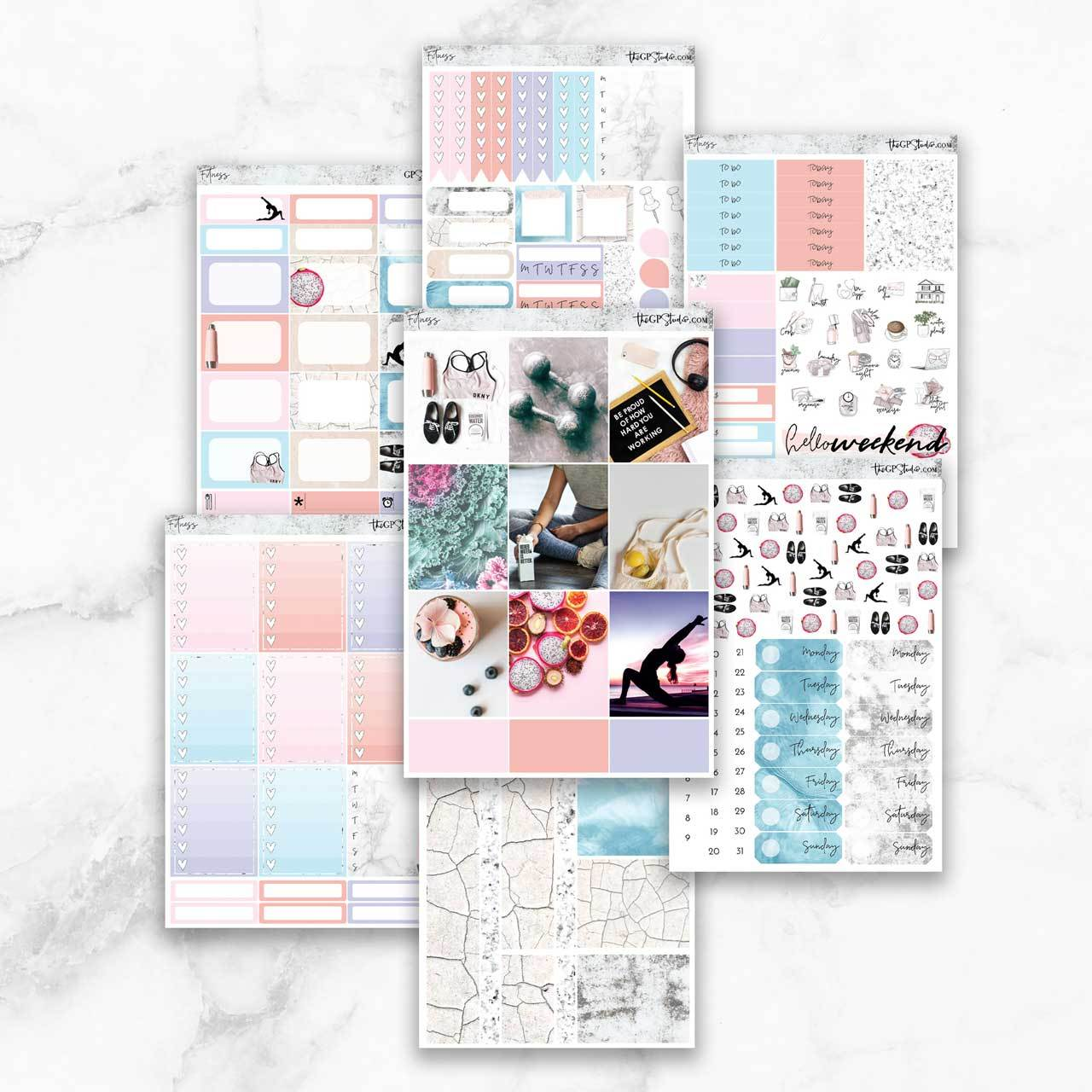 FITNESS Planner Sticker Kit-The GP Studio