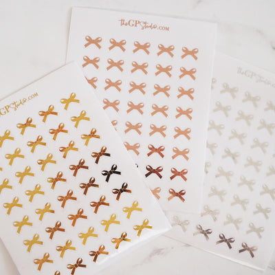 Foil Bow Icon Clear Sticker - GOLD ONLY-The GP Studio
