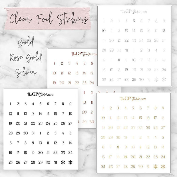 Foil DATE DOTS Icon Clear Sticker-The GP Studio