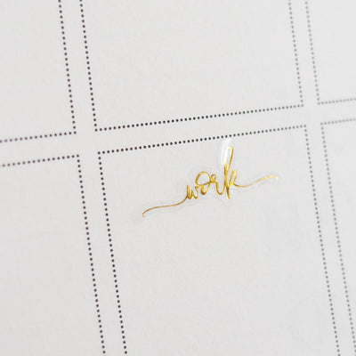 Foil Work Script Icon Clear Sticker-The GP Studio