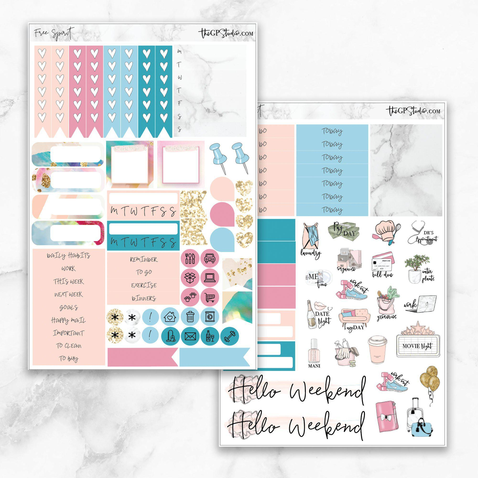 FREE SPIRIT Functional Planner Sticker Kit-The GP Studio