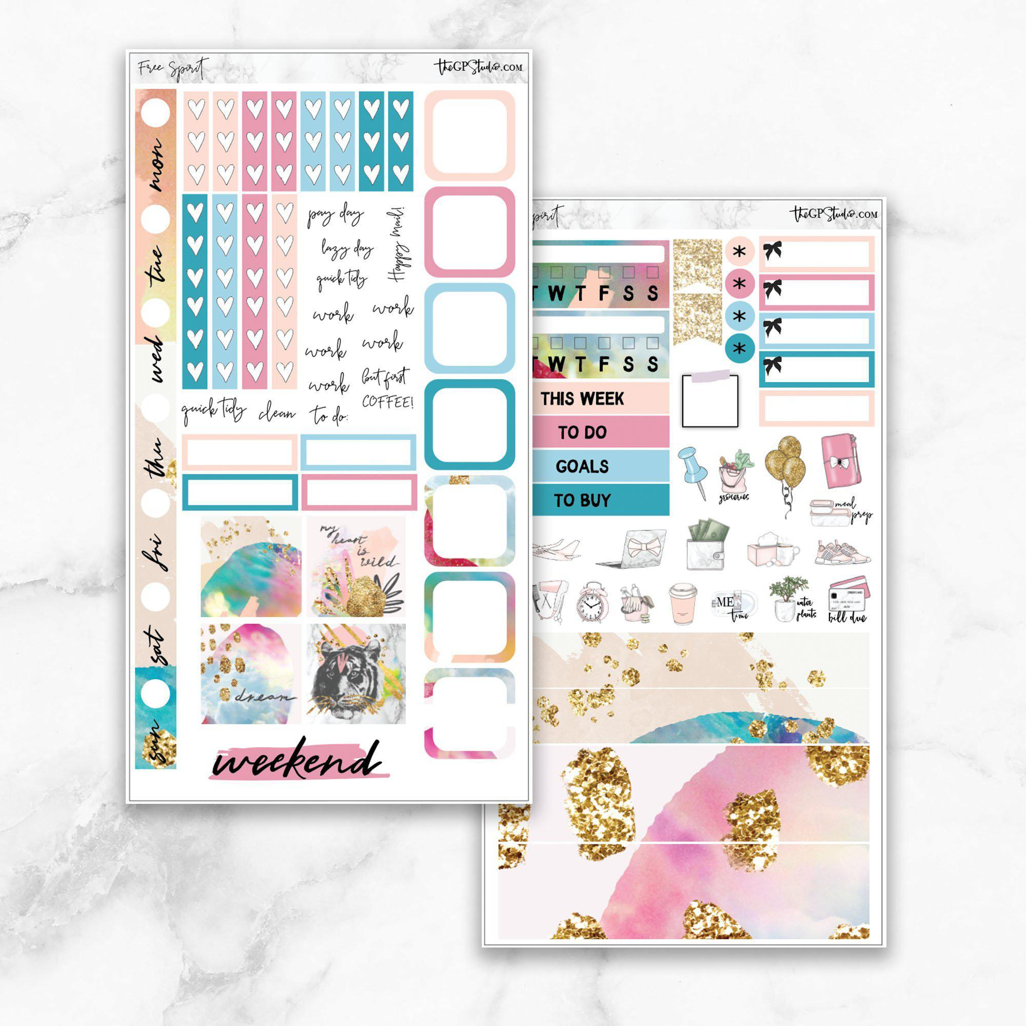 FREE SPIRIT Hobonichi Weekly Size Planner Sticker Kit-The GP Studio