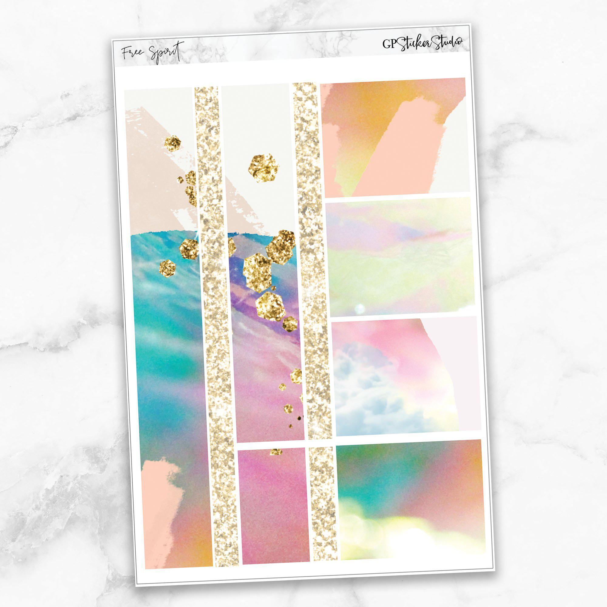 FREE SPIRIT Washi Sheet Stickers-The GP Studio
