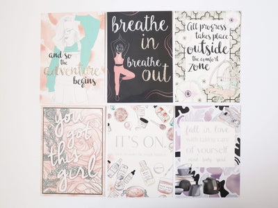 FRESH START/RECIPE QUOTE CARDS - pack of 6-The GP Studio