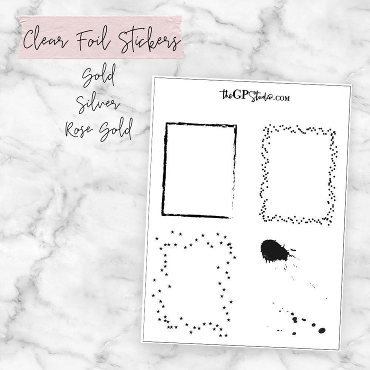 Fun Clear Foil Overlay Full Boxes-The GP Studio