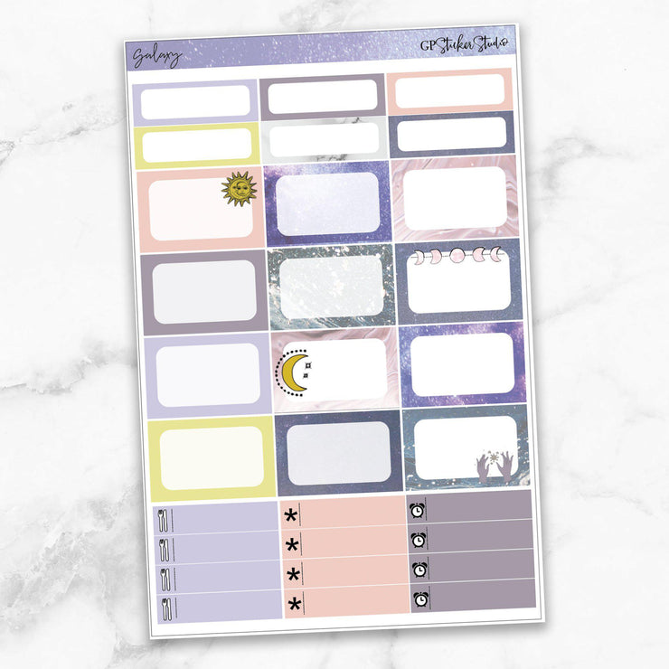 GALAXY Half Boxes Planner Stickers-The GP Studio