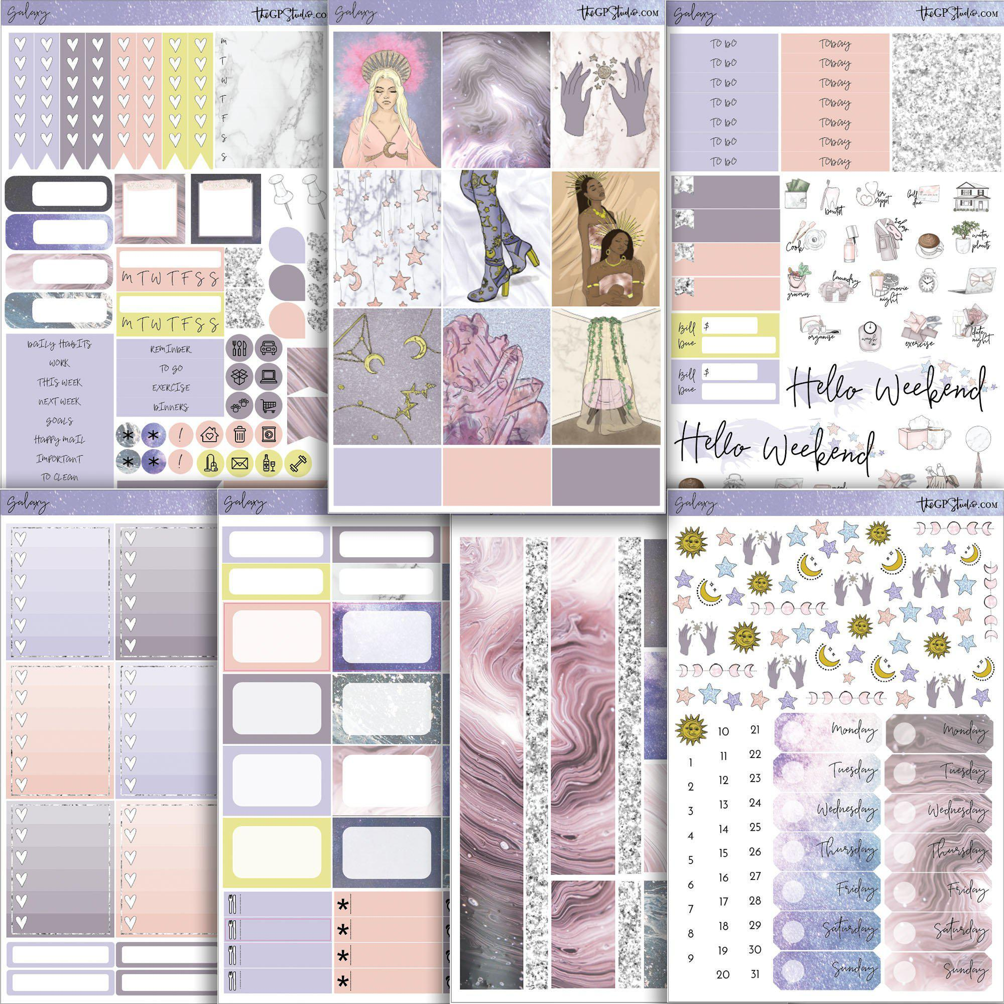 GALAXY Planner Sticker Kit-The GP Studio