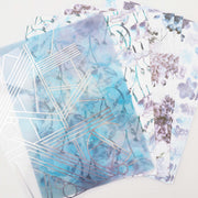 GILDED FLORALS SET OF PAPERS, ACETATE AND VELLUM-The GP Studio