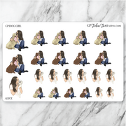 GP DOG GIRL Planner Stickers-The GP Studio