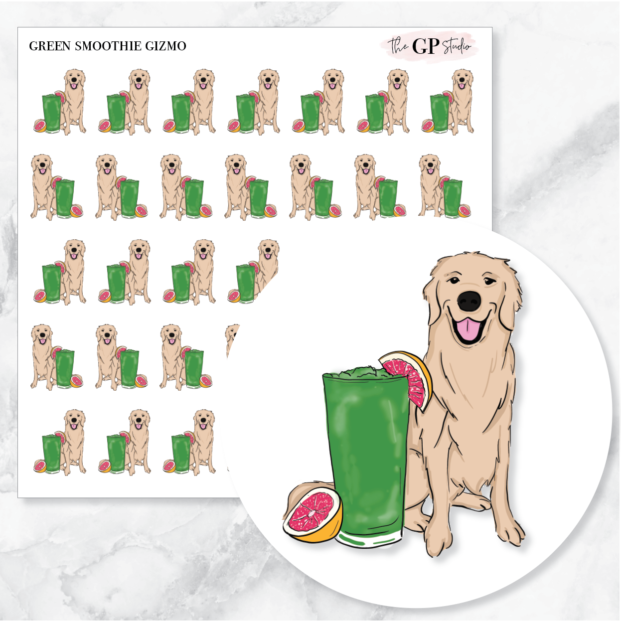 GREEN SMOOTHIE GIZMO Planner Stickers-The GP Studio