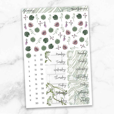GREENERY Deco & Date Cover Stickers-The GP Studio