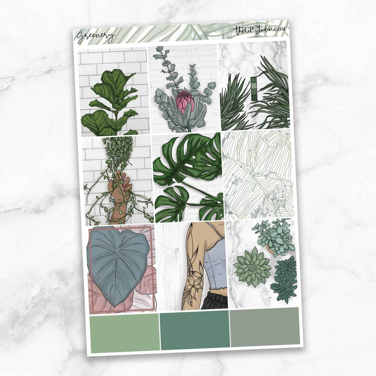 GREENERY Full Boxes Planner Stickers-The GP Studio