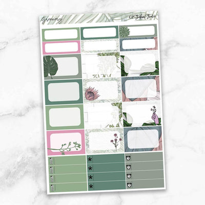 GREENERY Half Boxes Planner Stickers-The GP Studio