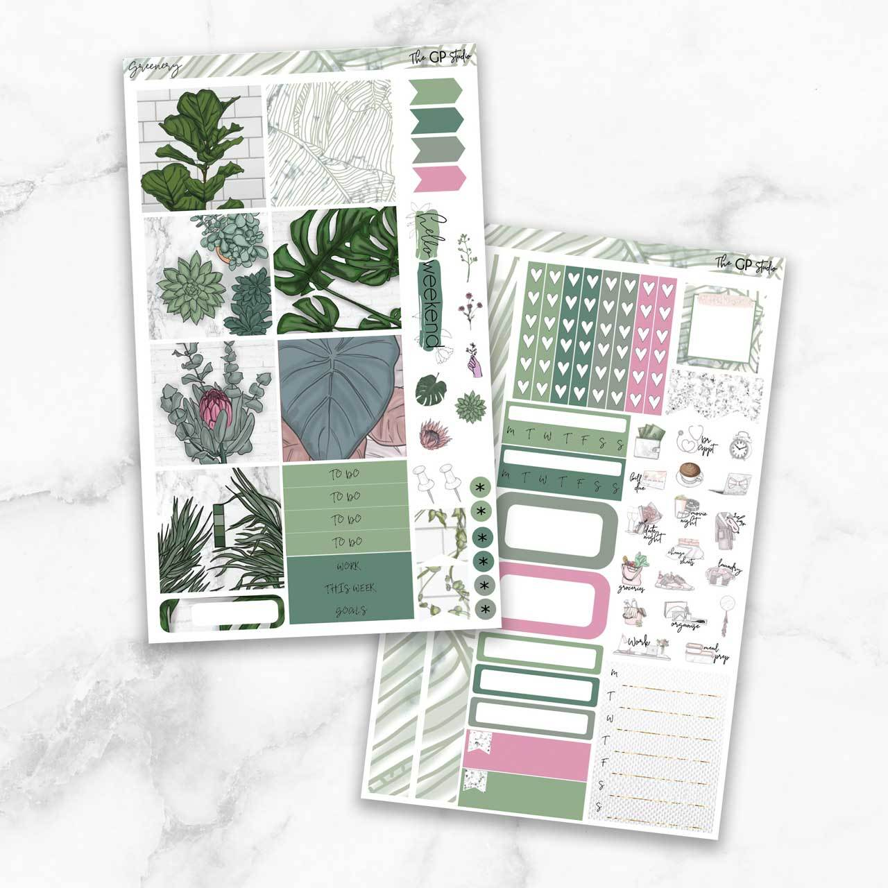 GREENERY Mini Size Planner Sticker Kit-The GP Studio