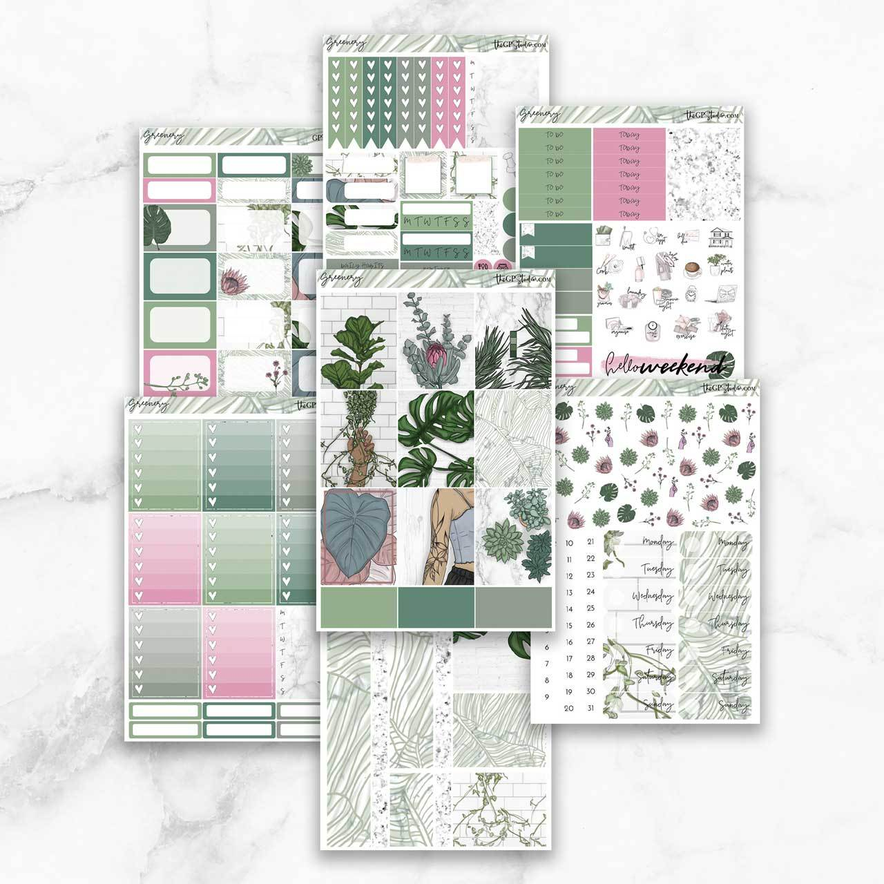 GREENERY Planner Sticker Kit-The GP Studio