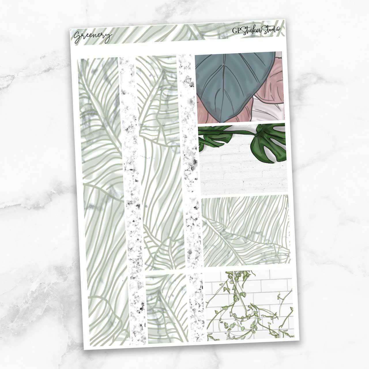 GREENERY Washi Sheet Stickers-The GP Studio