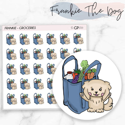 GROCERIES FRANKIE Planner Stickers-The GP Studio