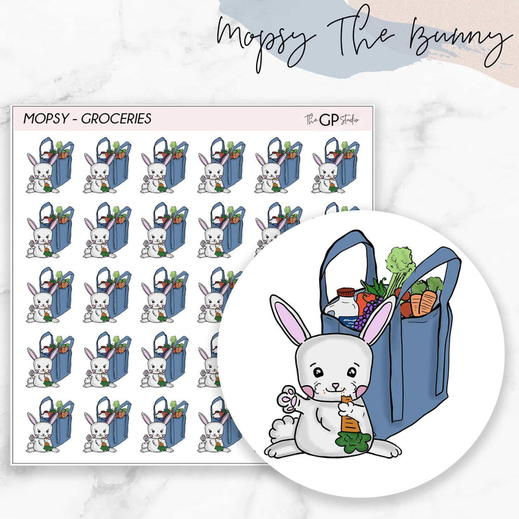 GROCERIES MOPSY Planner Stickers-The GP Studio