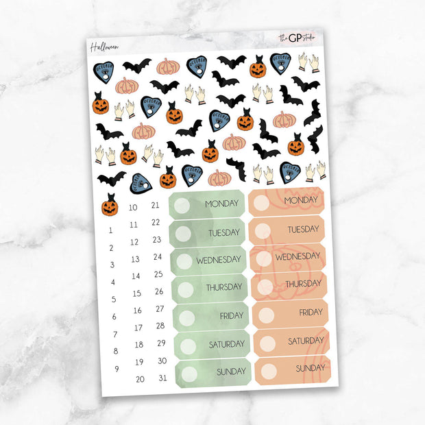 HALLOWEEN Deco & Date Cover Stickers-The GP Studio