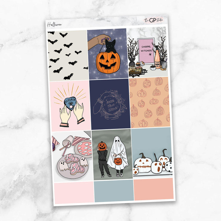 HALLOWEEN Full Boxes Planner Stickers-The GP Studio