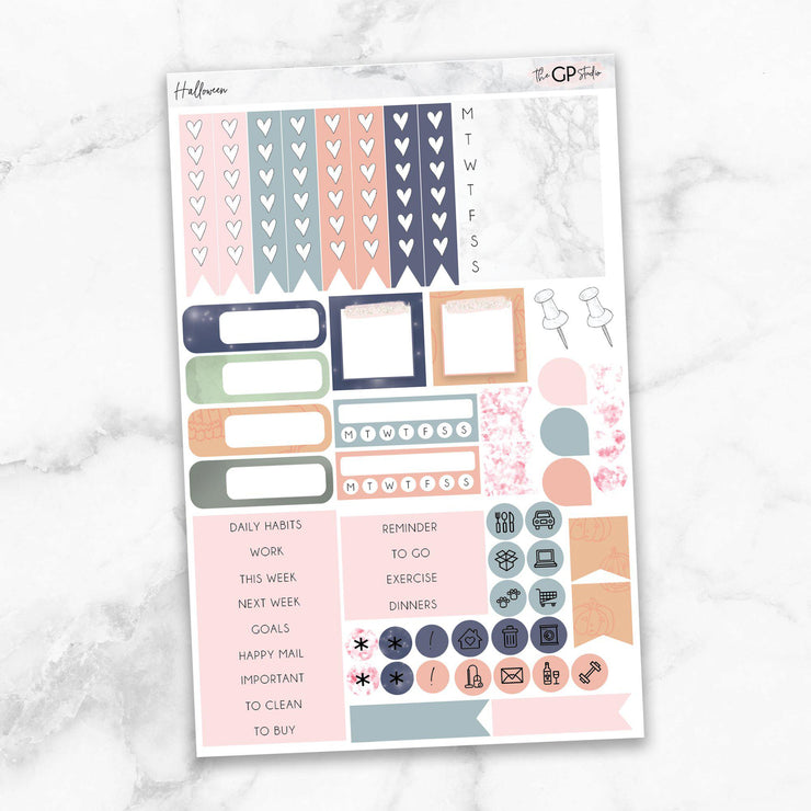 HALLOWEEN Functional Planner Sticker Kit-The GP Studio