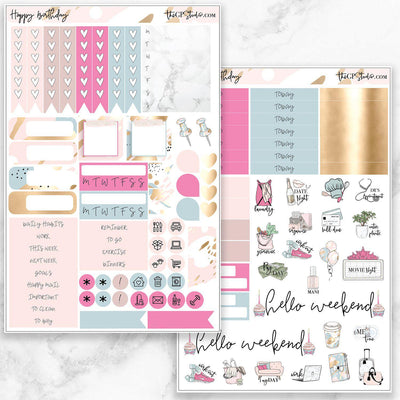HAPPY BIRTHDAY Functional Planner Sticker Kit-The GP Studio