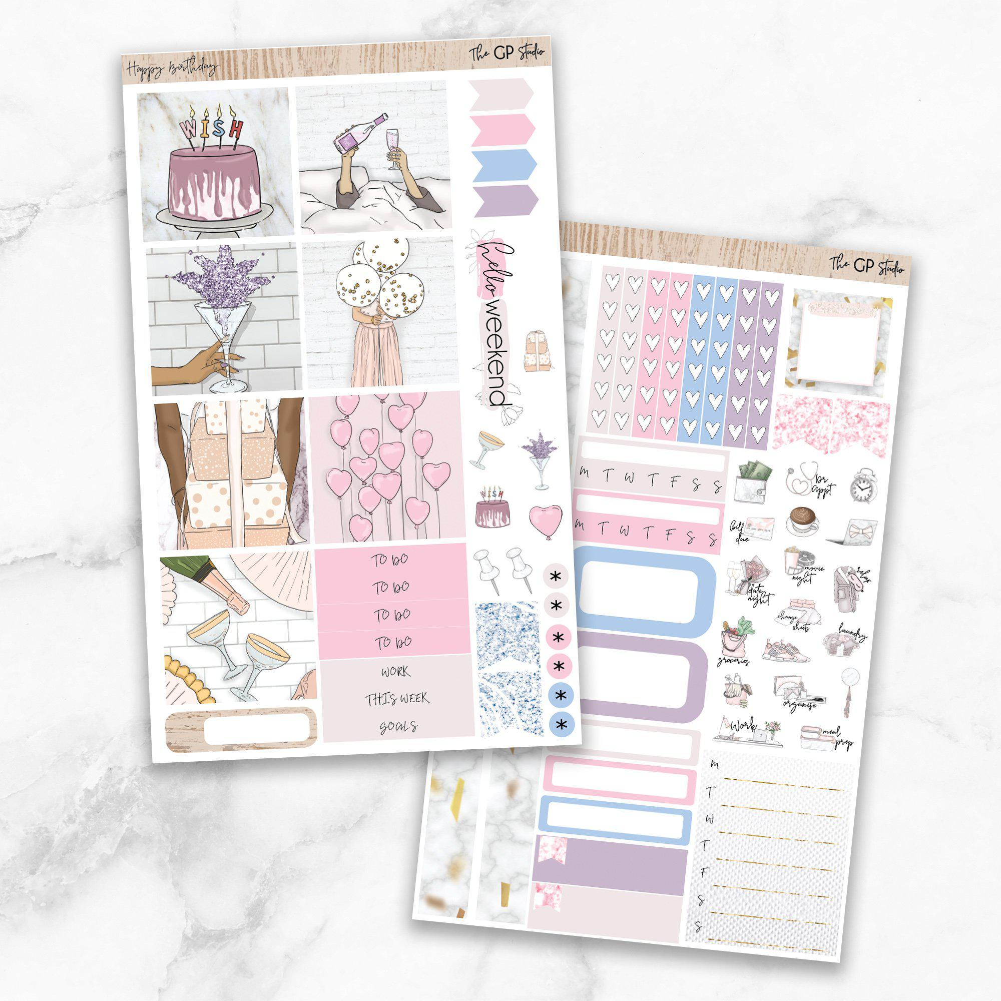 HAPPY BIRTHDAY Mini Size Planner Sticker Kit-The GP Studio