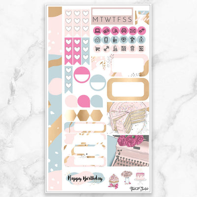 HAPPY BIRTHDAY Personal Size Planner Sticker Kit-The GP Studio