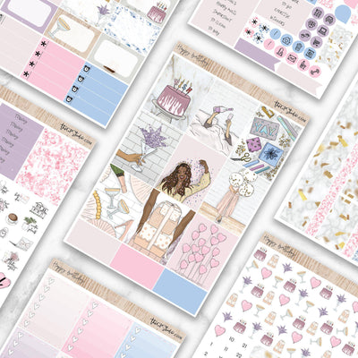 HAPPY BIRTHDAY Planner Sticker Kit-The GP Studio