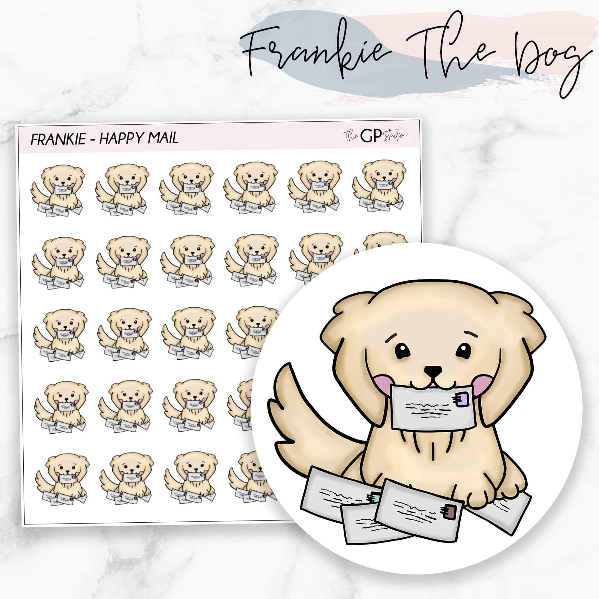 HAPPY MAIL FRANKIE Planner Stickers-The GP Studio