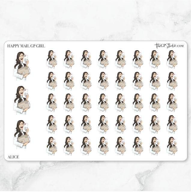 HAPPY MAIL GP Girl Planner Stickers-The GP Studio