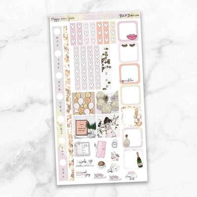 HAPPY NEW YEAR Hobonichi Weekly Size Planner Sticker Kit-The GP Studio