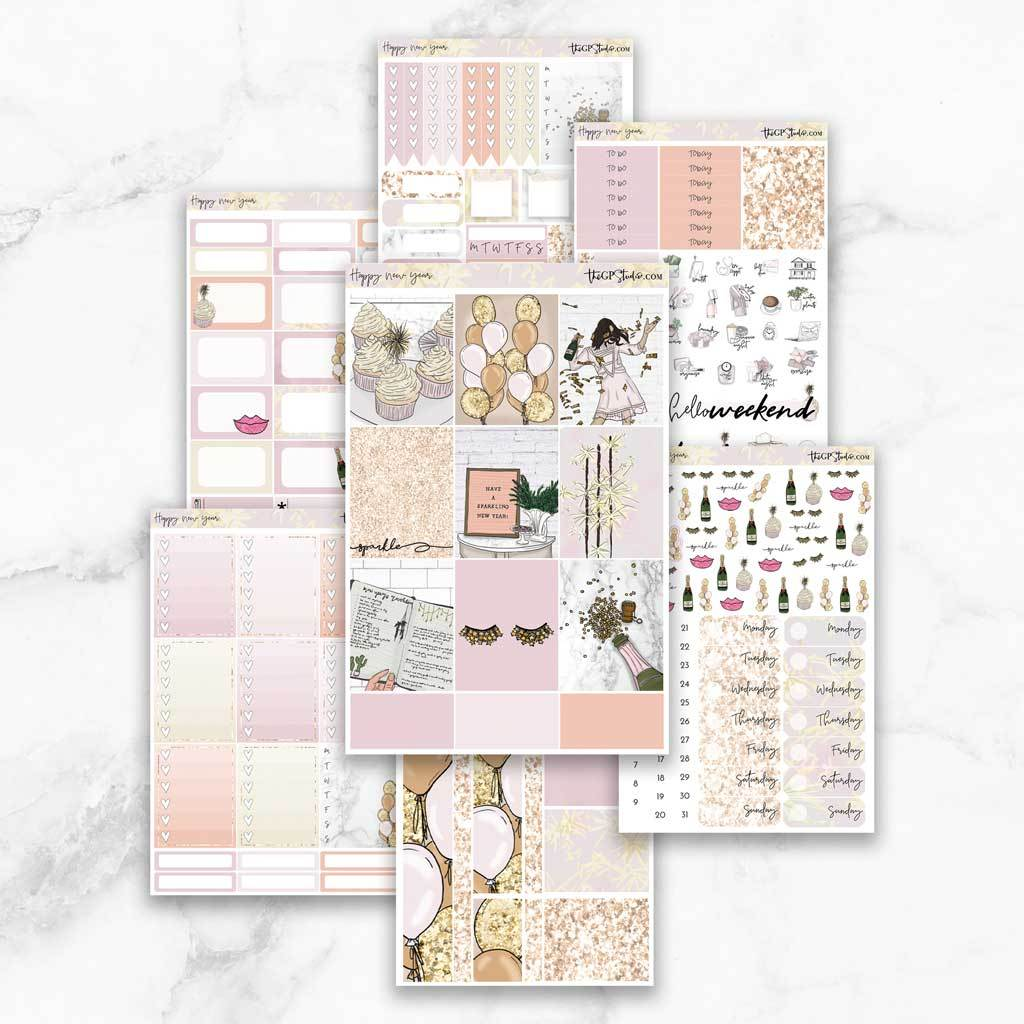 HAPPY NEW YEAR Planner Sticker Kit-The GP Studio