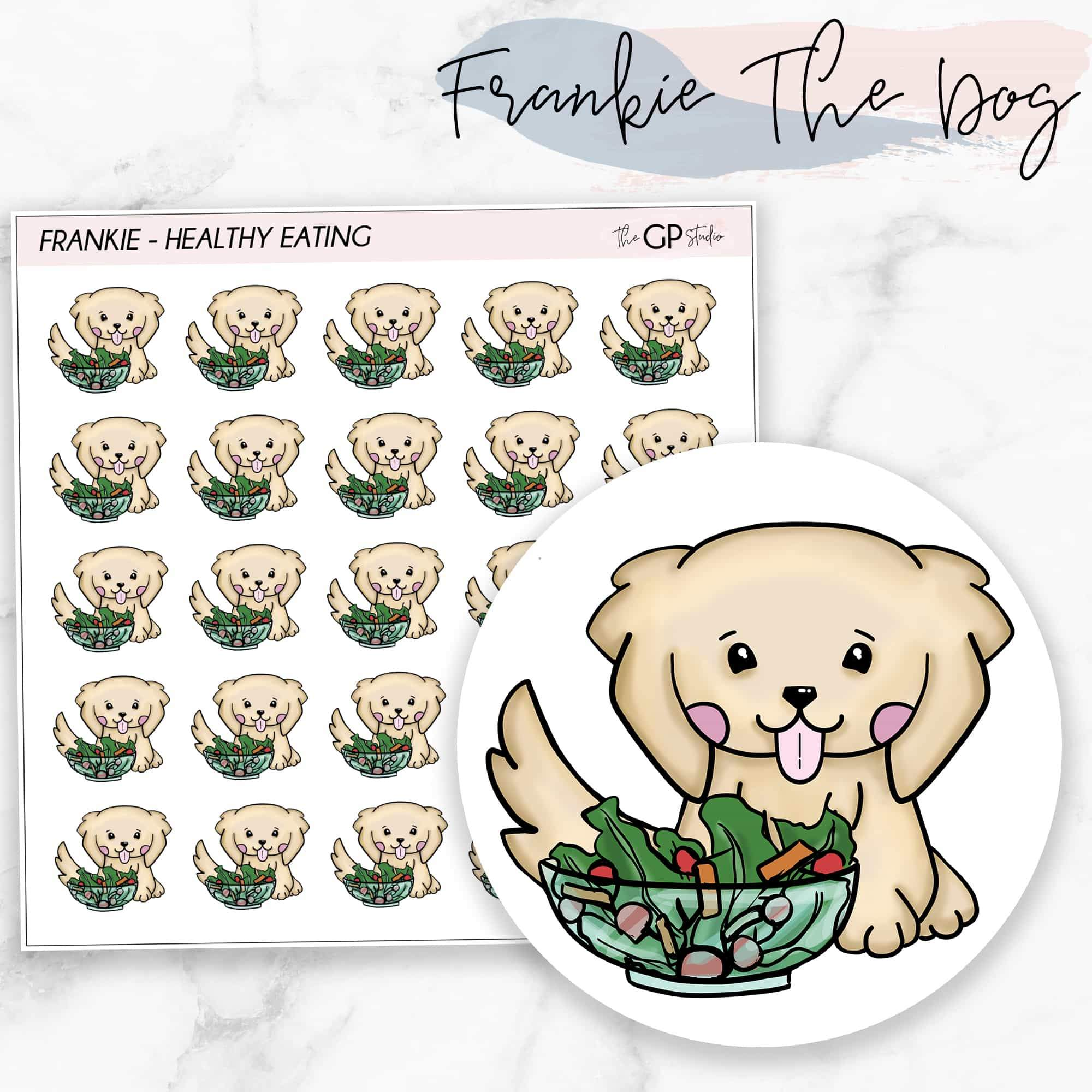 HEALTHY EATING FRANKIE Planner Stickers-The GP Studio