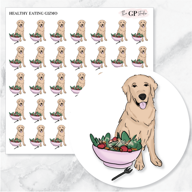 HEALTHY EATING GIZMO Planner Stickers-The GP Studio