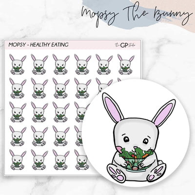 HEALTHY EATING MOPSY Planner Stickers-The GP Studio