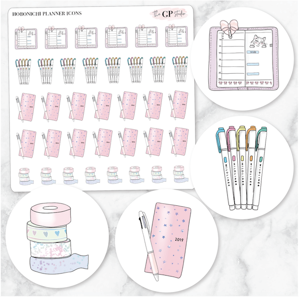 HOBONICHI PLANNER Icons Stickers-The GP Studio