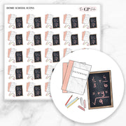 HOME SCHOOL Icons Stickers-The GP Studio
