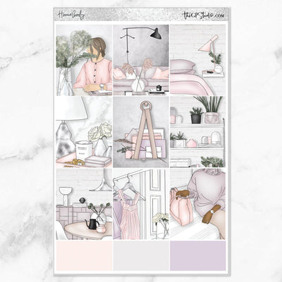 HOMEBODY Full Boxes Planner Stickers-The GP Studio