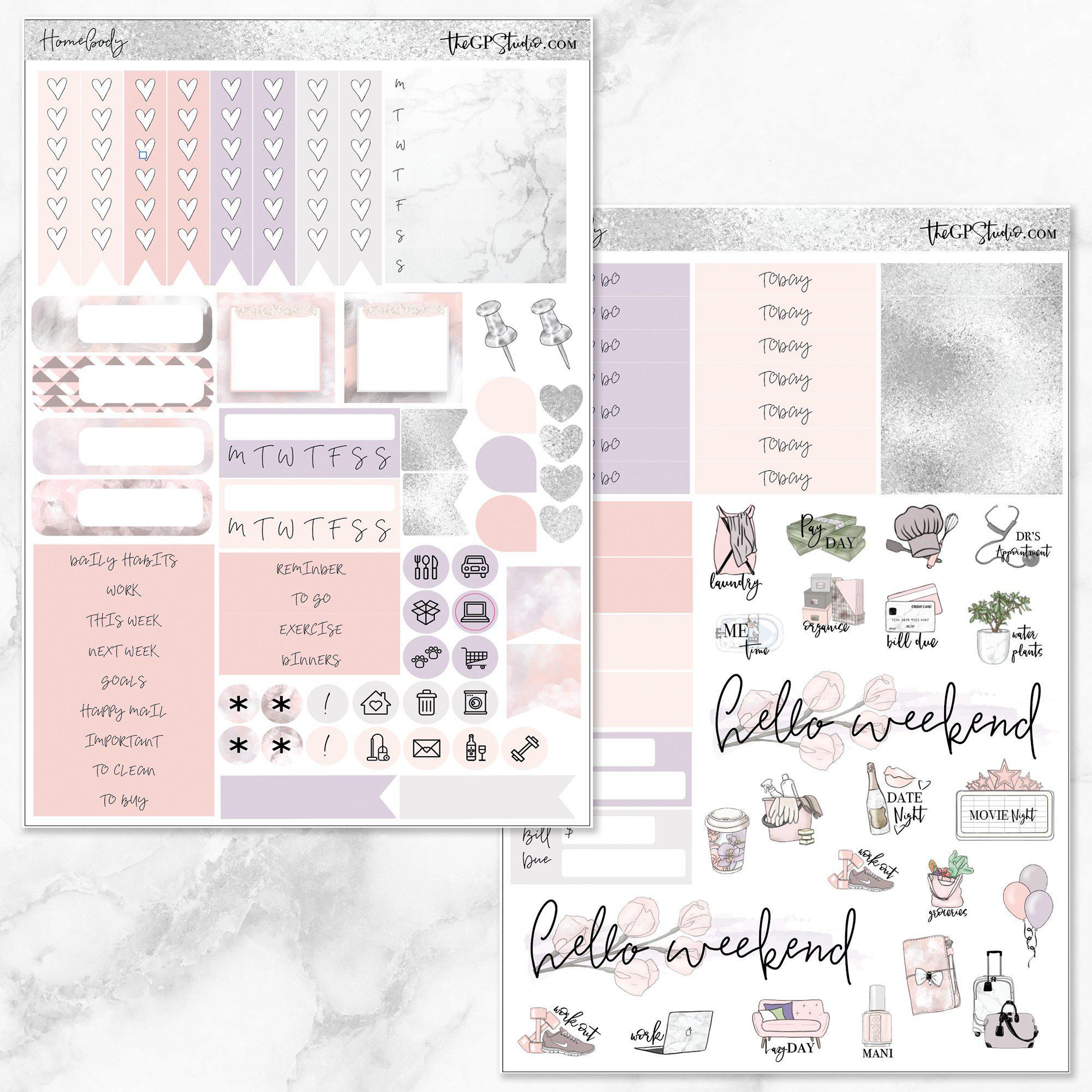 HOMEBODY Functional Planner Sticker Kit-The GP Studio