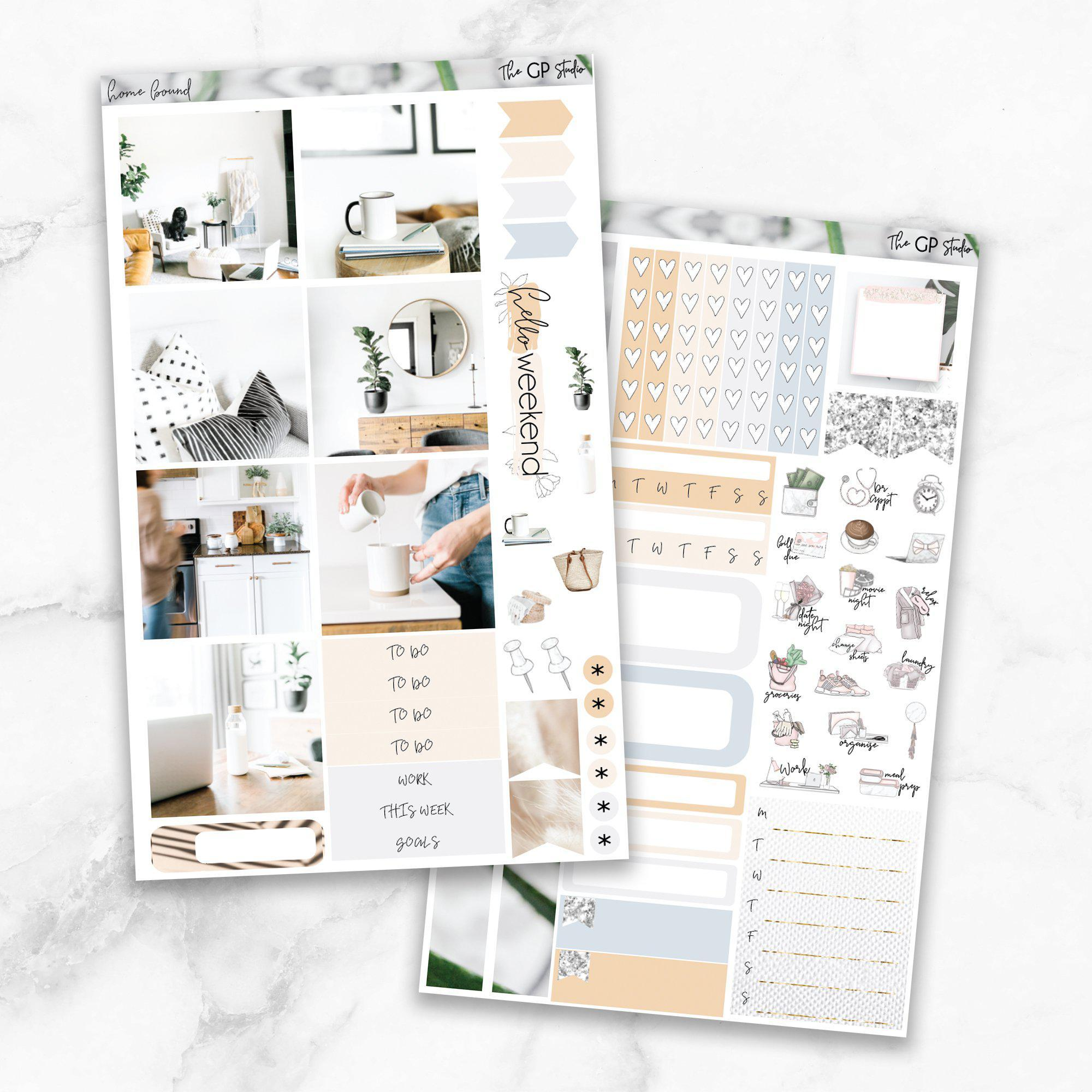 HOMEBOUND Mini Size Planner Sticker Kit-The GP Studio