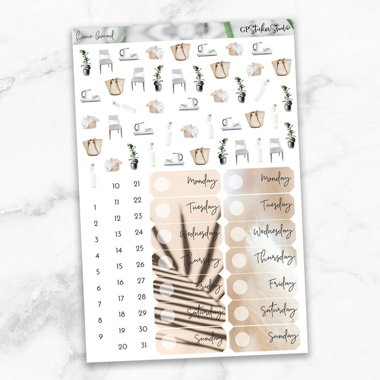 HOMEBOUND Planner Sticker Kit-The GP Studio