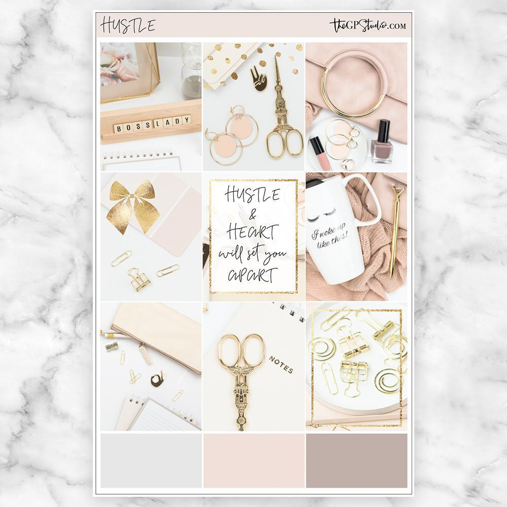 HUSTLE Full Boxes Planner Stickers-The GP Studio