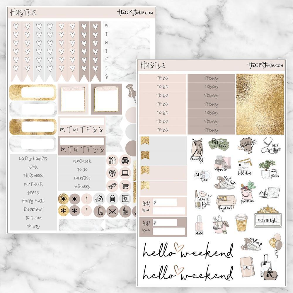 HUSTLE Functional Planner Sticker Kit-The GP Studio