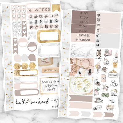 HUSTLE Personal Size Planner Sticker Kit-The GP Studio