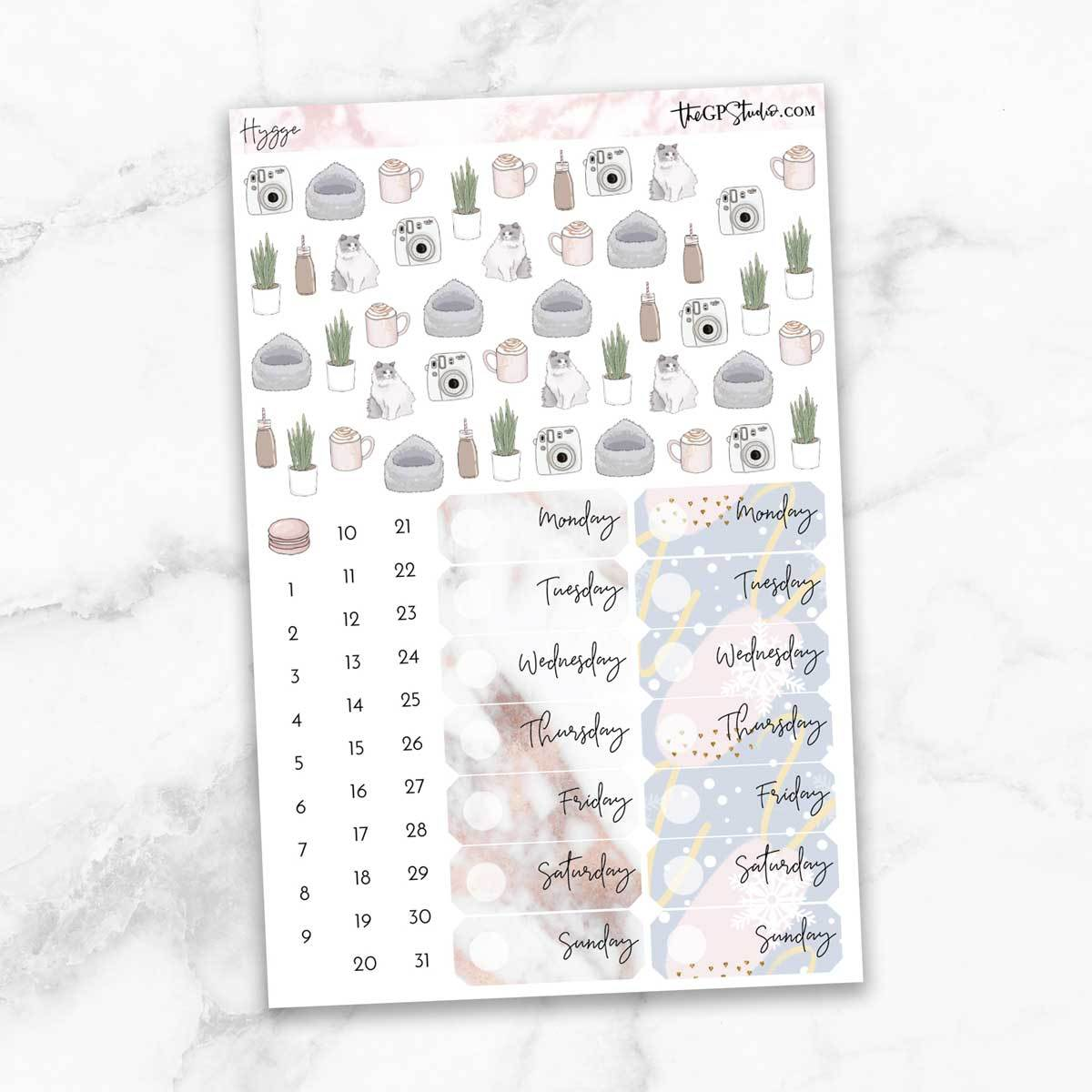 HYGGE Deco & Date Cover Stickers-The GP Studio