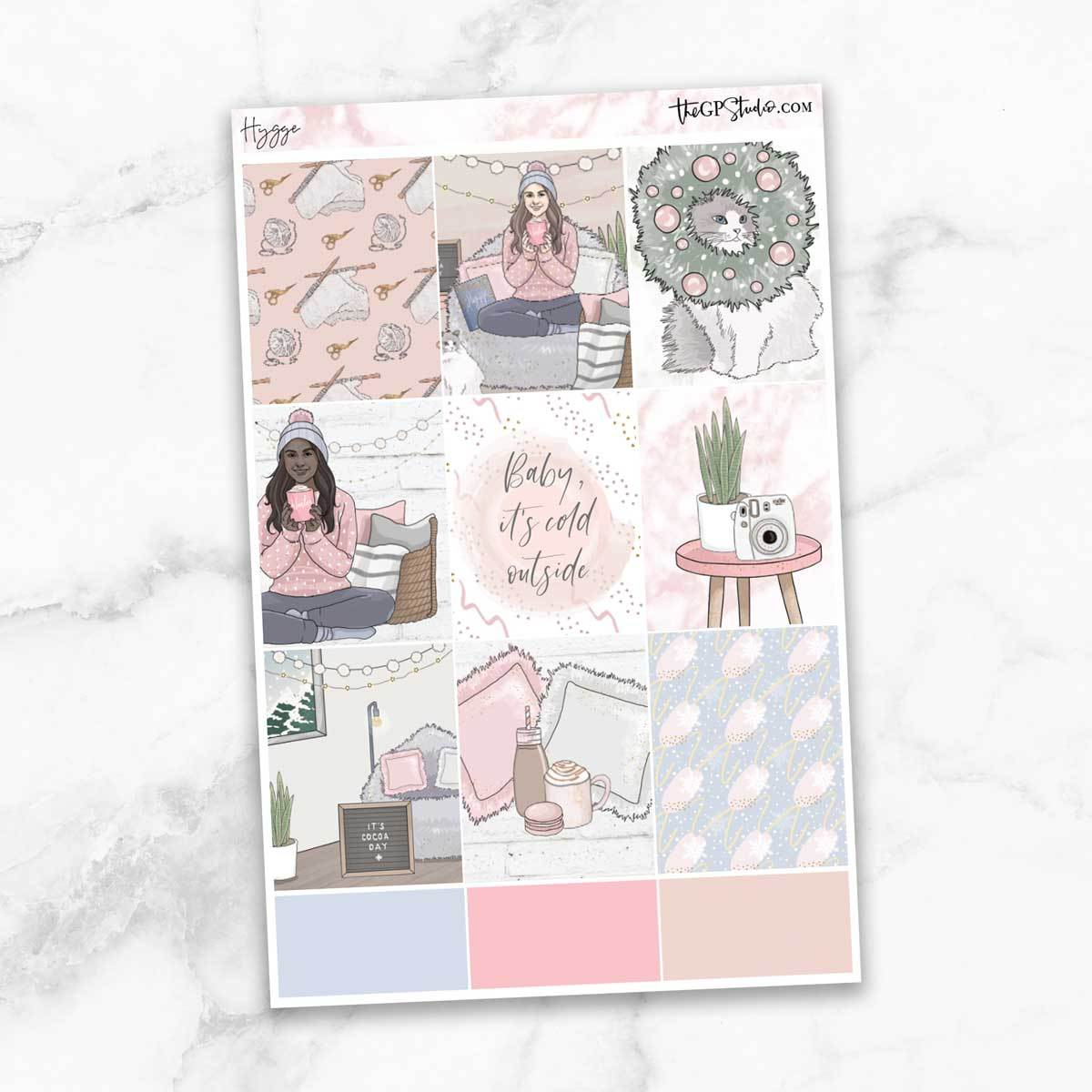 HYGGE Full Boxes Planner Stickers-The GP Studio