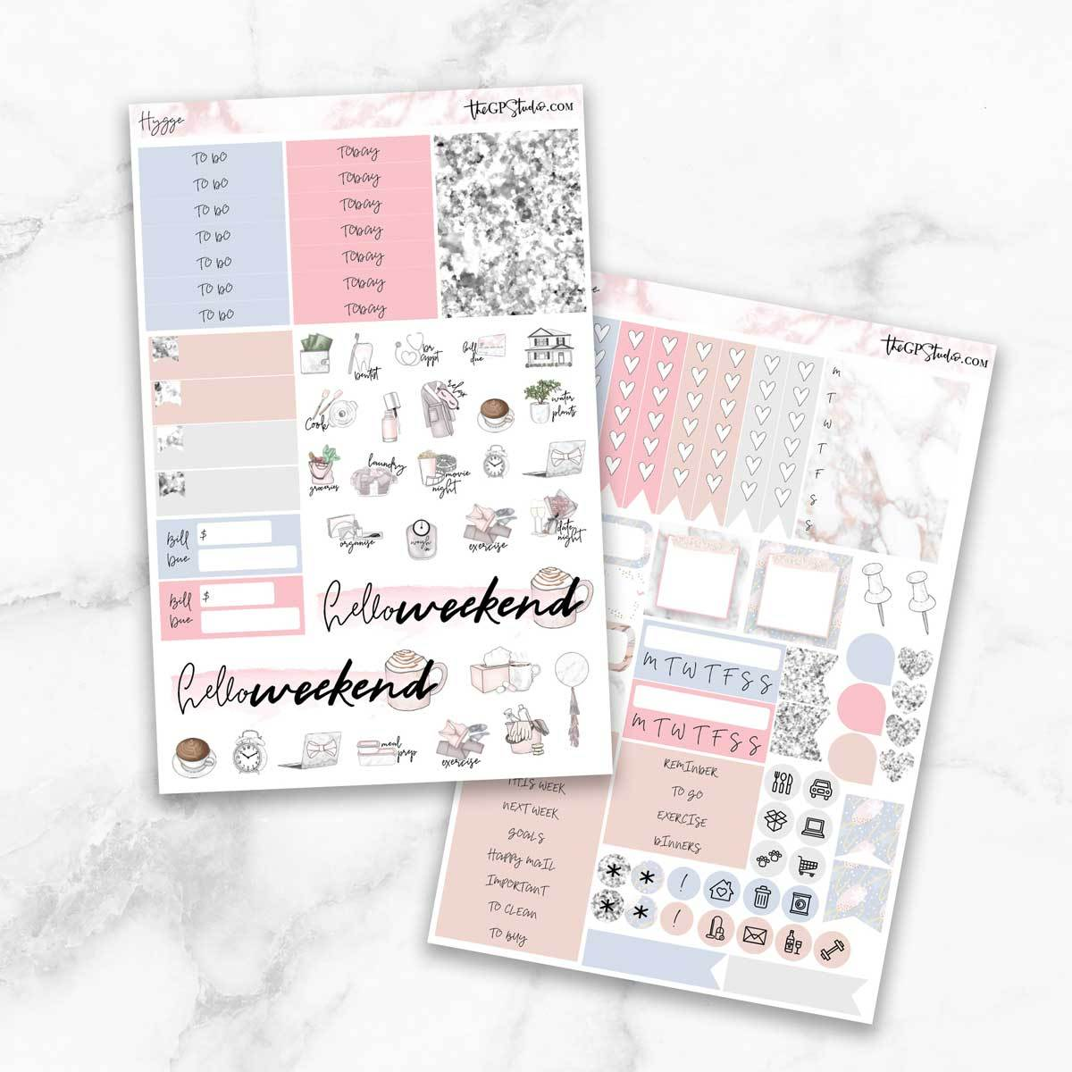 HYGGE Functional Planner Sticker Kit-The GP Studio